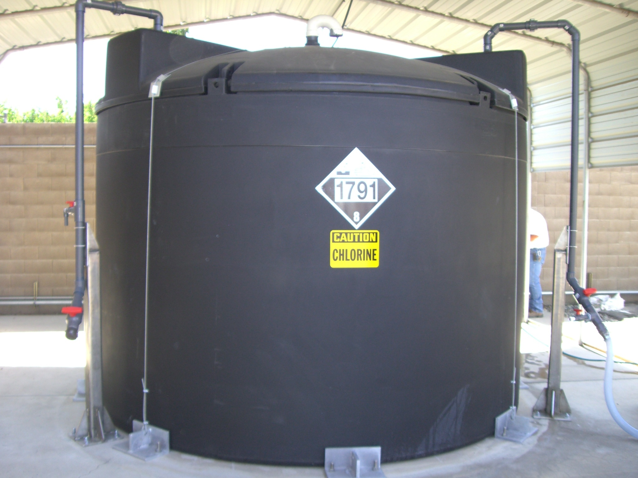 Chlorine Chemical Storage Tank